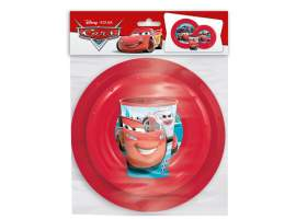 Set plato, cuenco y vaso 260 ml. Cars