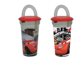 Vaso con pajita 400 ml. Cars