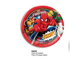 Set 8 platos Spiderman