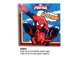 Set 20 servilletas Spiderman
