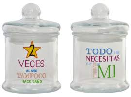 Bote cristal frases 800ml