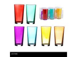 Set 6 vasos 25 cl colores
